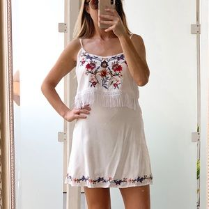 Abercrombie & Fitch Embroidered Fringe Dress